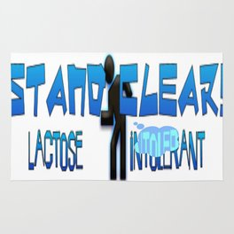 Blue Stand Clear! Lactose Intolerant  Rug