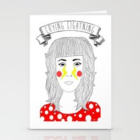arctic monkeys Stationery Cards featuring Crying Lightning by Arctic Monkeys inspired by darlingheart