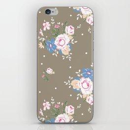 Heirloom Rose - Raw Umber iPhone Skin