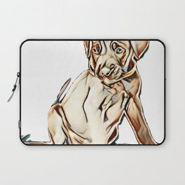 puppy cane corso on a white background        - Image Laptop Sleeve