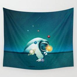 Astronaut Billards Wall Tapestry