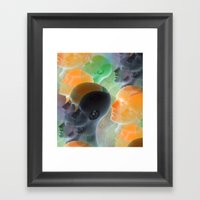 public viewing - orange Framed Art Print