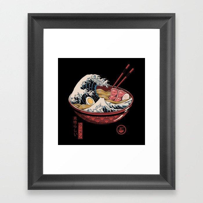 Great Ramen Wave Framed Art Print