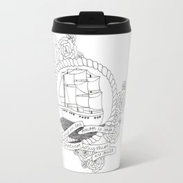 A Ship in the Harbor Travel Mug