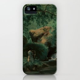 André Giroux Forest Interior with a Painter, Civita Castellana iPhone Case