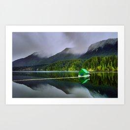 Vancouver Capilano Mountains Art Print