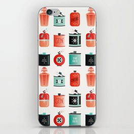 Flask Collection – Red & Turquoise Palette iPhone Skin