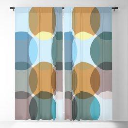Minimalistic Modern Boho Earth Toned Colorful Pattern Blackout Curtain