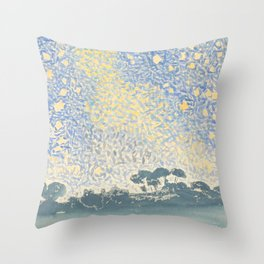 Landscape with Stars by Henri-Edmond Cross 1905–1908, French Throw Pillow