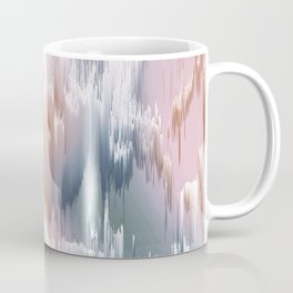 Etherial light in blush and blue - Glitch art Coffee Mug