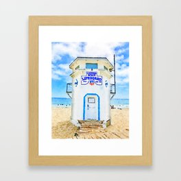 Laguna Beach Lifeguard Stand Framed Art Print