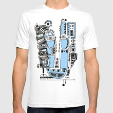 Sad robot Mens Fitted Tee SMALL White