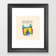 The kid inside you Framed Art Print