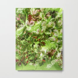 Strawberry leaves with extras Metal Print