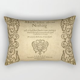 Shakespeare. Much adoe about nothing, 1600 Rectangular Pillow