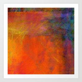 Orange Study #2 Digital Painting Art Print