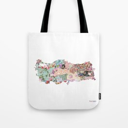 Turquey map Tote Bag
