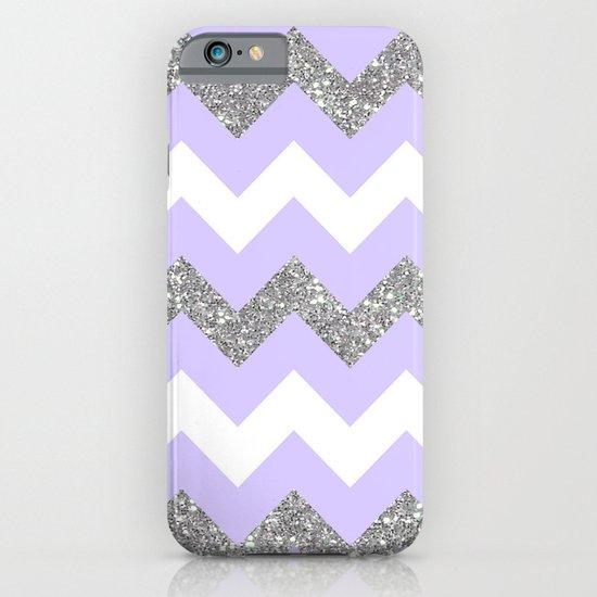 purple glitter chevron iPhone & iPod Case
