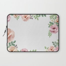 Pink Floral Watercolor Design Laptop Sleeve