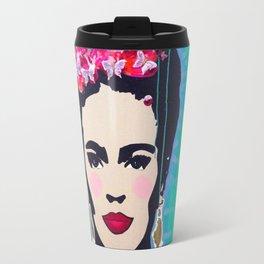 Frida Kahlo by Paola Gonzalez Travel Mug