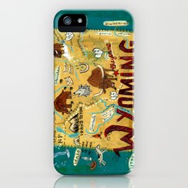 WYOMING map iPhone Case