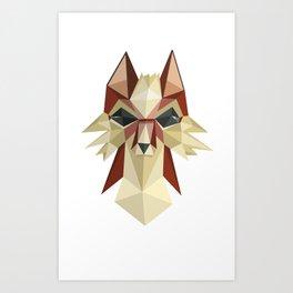 Flat Fox Art Print