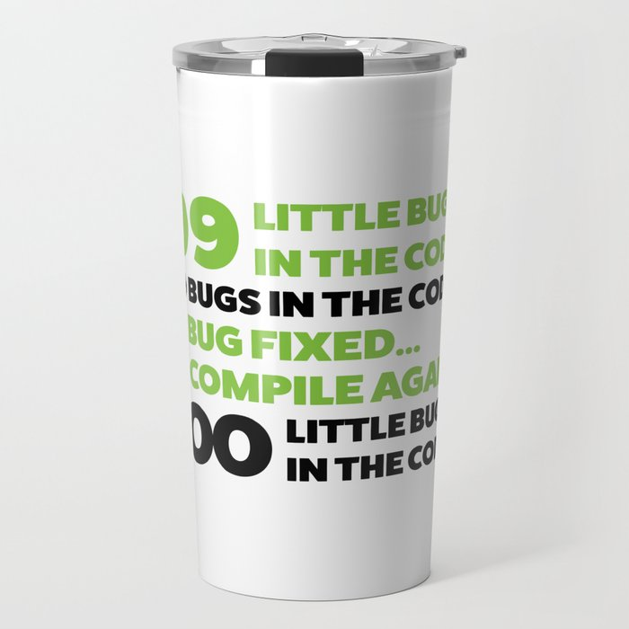 Little bugs in the code Travel Mug