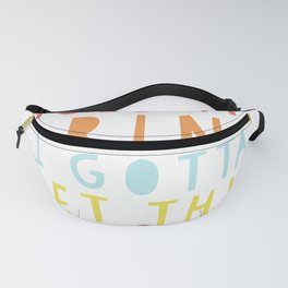Hold My Drink I Gotta Pet This Dog 80s 90s Retro Cute Phrase print Fanny Pack