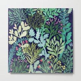 Botanical Glow Metal Print