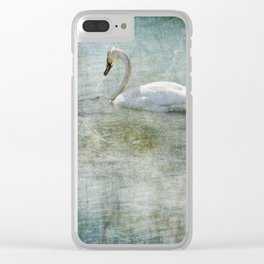 A Swan's Reverie Clear iPhone Case