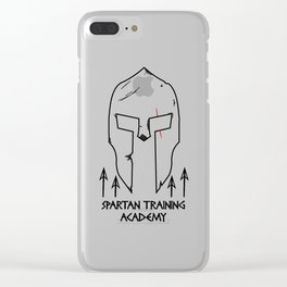 Spartan Workout Training Academy Clear iPhone Case