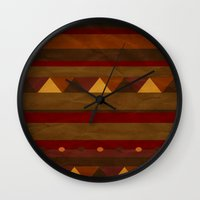 native american Wall Clocks featuring native. by kelmeloo