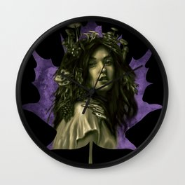 Forest Nymph Wall Clock