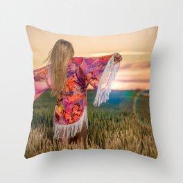 Ibiza style Throw Pillow