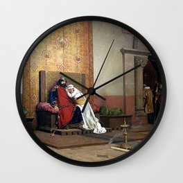 Jean-Paul Laurens - The Excommunication of Robert the Pious Wall Clock