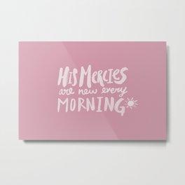 Mercy Morning x Rose Metal Print