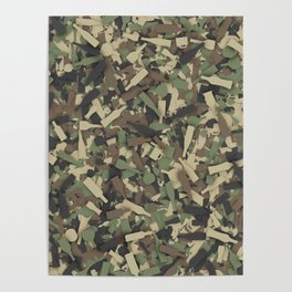 Forest alcohol camouflage Poster
