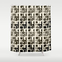 Indian abstractions - beige Shower Curtain