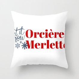 Snow in Orcières Merlette (Orcieres Merlette) Throw Pillow