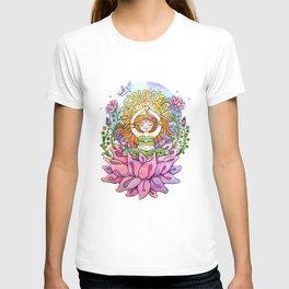 Yoga Flower Girl T-shirt