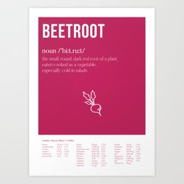 Beetroot - What's in it for me?! Art Print