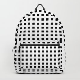 EDELWEISS bold white lines form grid on black background Backpack
