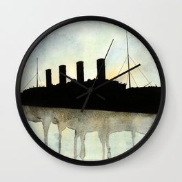 Titanic watercolour Wall Clock