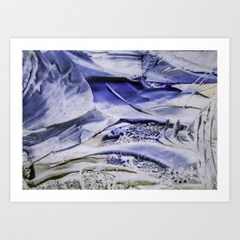 Melting Glacier Art Print