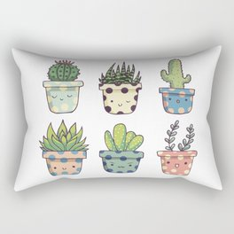 Happy succulents Rectangular Pillow