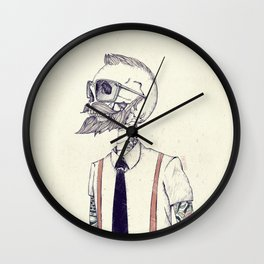 The Gentleman becomes a Hipster  Wall Clock