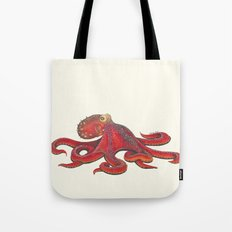 Red Octopus Tote Bag