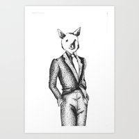 Suits Are Pigs  Art Print