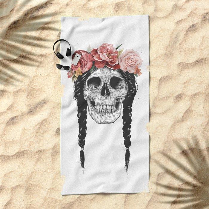 Festival skull Beach Towel