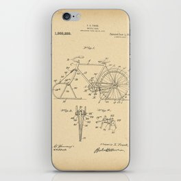 1918 Patent Bicycle sled iPhone Skin